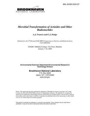 Primary view of object titled 'Microbial Transformations of Actinides and Other Radionuclides'.