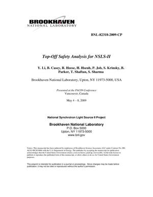Primary view of object titled 'Top-Off Safety Analysis for NSLS-II'.