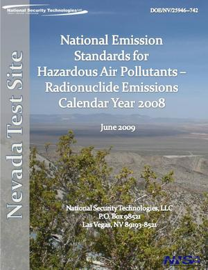 Primary view of object titled 'Nevada Test Site National Emission Standards for Hazardous Air Pollutants Calendar Year 2008'.