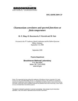 Primary view of object titled 'Charmonium correlators and spectral functions at finite temperature'.