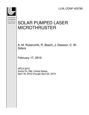 Primary view of object titled 'SOLAR PUMPED LASER MICROTHRUSTER'.
