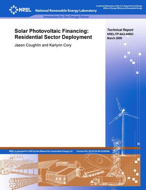 Primary view of object titled 'Solar Photovoltaic Financing: Residential Sector Deployment'.