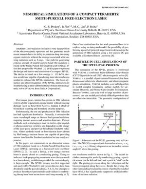 Primary view of object titled 'Numerical simulations of a compact terahertz Smith-Purcell Free Electron Laser'.