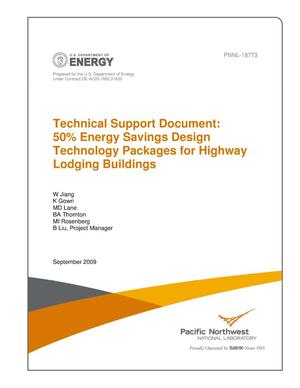 Primary view of object titled 'Technical Support Document: 50% Energy Savings Design Technology Packages for Highway Lodging Buildings'.