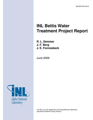 Primary view of object titled 'INL Bettis Water Treatment Project Report'.