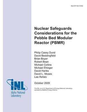 Primary view of object titled 'Nuclear Safeguards Considerations For The Pebble Bed Modular Reactor (PBMR)'.