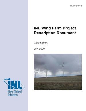 Primary view of object titled 'INL Wind Farm Project Description Document'.