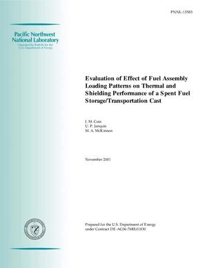 Primary view of object titled 'Evaluation of Effect of Fuel Assembly Loading Patterns on Thermal and Shielding Performance of a Spent Fuel Storage/Transportation Cask'.