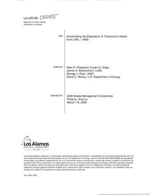 Primary view of object titled 'Accelerating the disposition of transuranic waste from LANL - 9495'.