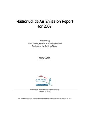 Primary view of object titled 'Radionuclide Air Emission Report for 2008'.