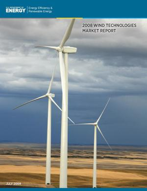 Primary view of object titled '2008 WIND TECHNOLOGIES MARKET REPORT'.