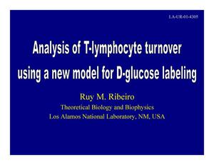 Primary view of object titled 'Analysis of T lymphocyte turnover rates using novel models for the study of deuterated glucose uptake'.