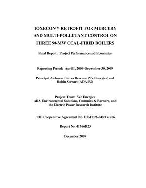 Primary view of object titled 'Toxecon Retrofit for Mercury and Mulit-Pollutant Control on Three 90-MW Coal-Fired Boilers'.