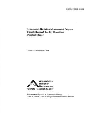 Primary view of object titled 'Atmospheric Radiation Measurement program climate research facility operations quarterly report October 1 - December 31, 2008.'.