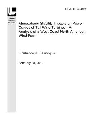Primary view of object titled 'Atmospheric Stability Impacts on Power Curves of Tall Wind Turbines - An Analysis of a West Coast North American Wind Farm'.