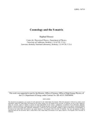 Primary view of object titled 'Cosmology and the S-matrix'.