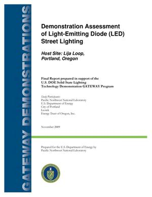 Primary view of object titled 'Demonstration Assessment of Light-Emitting Diode (LED) Street Lighting Host Site: Lija Loop, Portland, Oregon'.