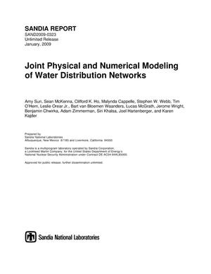 Primary view of object titled 'Joint physical and numerical modeling of water distribution networks.'.