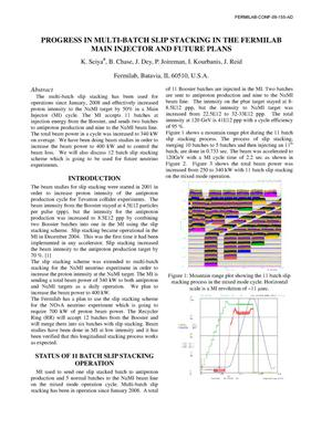Primary view of object titled 'Progress in Multi-Batch Slip Stacking in the Fermilab Main Injector and Future Plans'.