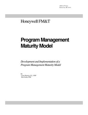 Primary view of object titled 'Development and Implementation of a Program Management Maturity Model'.