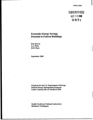 Primary view of object titled 'Economic Energy Savings Potential in Federal Buildings'.