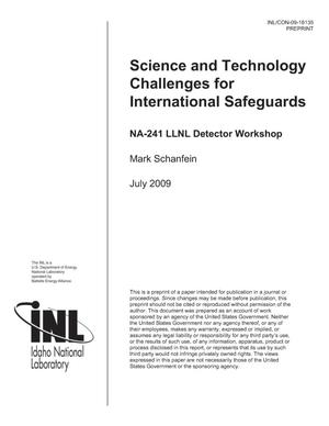 Primary view of object titled 'Science and Technology Challenges for International Safeguards'.
