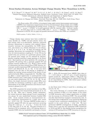 Primary view of object titled 'Fermi Surface Evolution Across Multiple Charge Density Wave Transitions in ErTe3'.