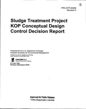 Primary view of object titled 'SLUDGE TREATMENT PROJECT KOP CONCEPTUAL DESIGN CONTROL DECISION REPORT'.