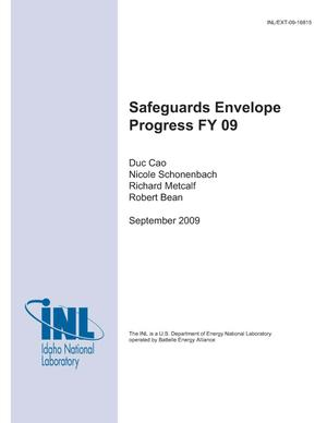 Primary view of object titled 'Safeguards Envelope Progress FY09'.