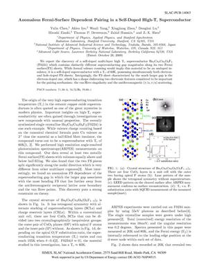 Primary view of object titled 'Anomalous Fermi-Surface Dependent Pairing in a Self-Doped High-Tc Superconductor'.