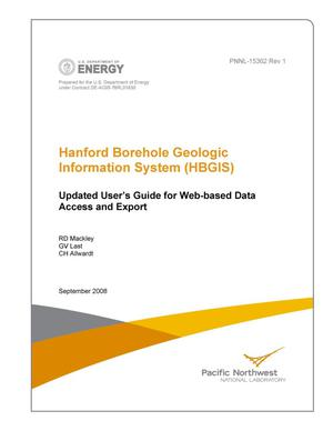 Primary view of object titled 'Hanford Borehole Geologic Information System (HBGIS) Updated User's Guide for Web-based Data Access and Export'.