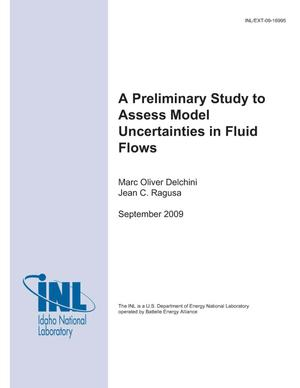 Primary view of object titled 'A preliminary study to Assess Model Uncertainties in Fluid Flows'.