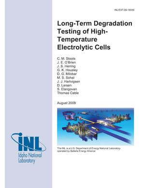 Primary view of object titled 'Long-Term Degradation Testing of High-Temperature Electrolytic Cells'.