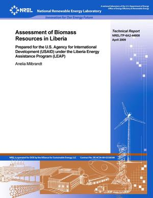 Primary view of object titled 'Assessment of Biomass Resources in Liberia'.