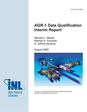 Primary view of object titled 'AGR-1 Data Qualification Interim Report'.