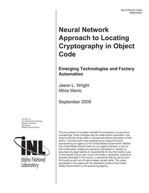Primary view of object titled 'Neural Network Approach to Locating Cryptography in Object Code'.