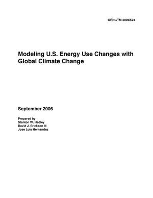 Primary view of object titled 'Modeling U.S. Energy Use Changes with Global Climate Change'.