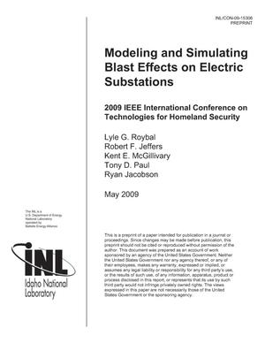 Primary view of object titled 'Modeling and Simulating Blast Effects on Electric Substations'.