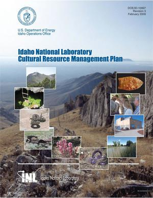 Primary view of object titled 'Idaho National Laboratory Cultural Resource Management Plan'.
