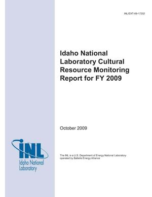 Primary view of object titled 'Idaho National Laboratory Cultural Resource Monitoring Report for FY 2009'.