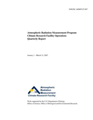 Primary view of object titled 'Atmospheric Radiation Measurement Program Climate Research Facility Operations Quarterly Report January 1 – March 31, 2007'.