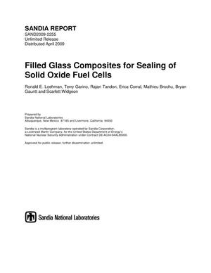 Primary view of object titled 'Filled glass composites for sealing of solid oxide fuel cells.'.
