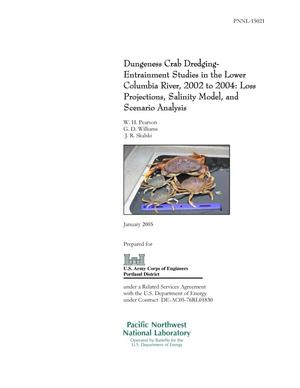 Primary view of object titled 'Dungeness Crab Dredging Entrainment Studies in the Lower Columbia River, 2002 – 2004: Loss Projections, Salinity Model, and Scenario Analysis'.