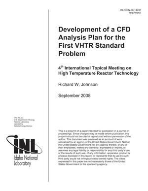 Primary view of object titled 'Development of a CFD Analysis Plan for the first VHTR Standard Problem'.