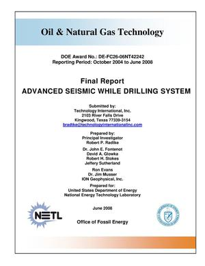 Primary view of object titled 'Advanced Seismic While Drilling System'.