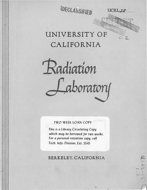 Primary view of object titled 'University of California Radiation Laboratory Progress Report for November, 1947'.