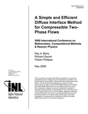 Primary view of object titled 'A Simple and Efficient Diffuse Interface Method for Compressible Two-Phase Flows'.