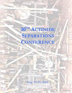 Primary view of object titled '30th Actinide Separations Conference, PNNL-SA-50126'.