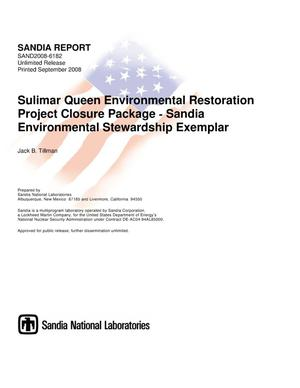 Primary view of object titled 'Sulimar Queen environmental restoration project closure package Sandia environmental stewardship exemplar.'.