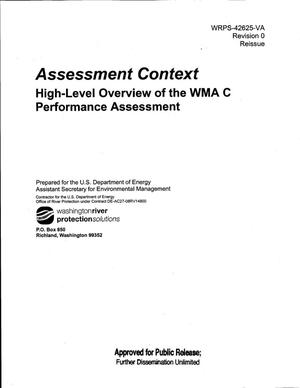 Primary view of object titled 'ASSESSMENT CONTEXT HIGH-LEVEL OVERVIEW OF THE WMA C PERFORMANCE ASSESSMENT'.